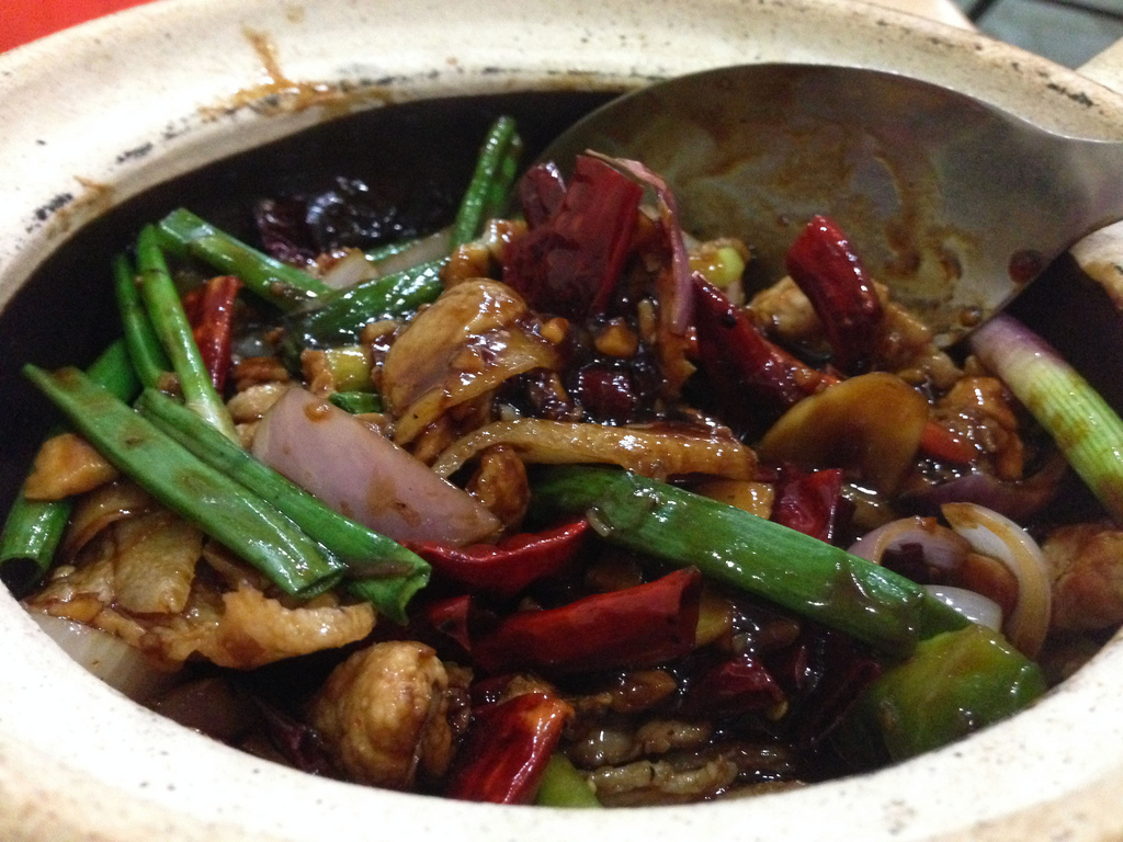 Claypot salted fish with meat